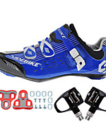 Cycling Shoes Unisex Outdoor / Road Bike Sneakers Damping / Cushioning Blue-sidebike