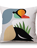 Cotton/Linen Pillow Cover,Novelty / Textured / Graphic Prints Accent/Decorative / Modern/Contemporary / Casual