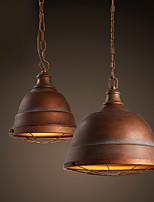 40W Luzes Pingente ,  Tradicional/Clássico / Vintage / Retro / Rústico Pintura Característica for LED / Designers MetalSala de Estar /
