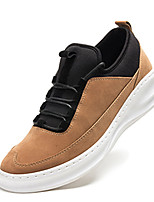 Men's Flats Spring / Fall Comfort / Round Toe Suede Casual Flat Heel Lace-up Black / Blue / Khaki Others