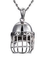 Modische Halsketten Anhängerketten Schmuck Alltag / Normal Modisch / Stil Edelstahl Silber 1 Stück Geschenk