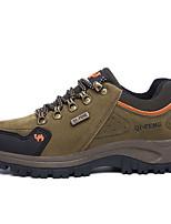 גברים-נעלי ספורט-סינטתי-נוחות-כחול חום ירוק כהה-שטח יומיומי-עקב נמוך