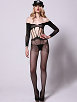 Women Sexy Lingerie Mesh Printing Design Vulnerabilities Sleeveless Conjoined Stockings Policemen Uniforms Temptation