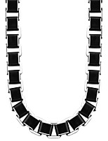 Trendy Box Link Chain Men High Quality Never Fade Black 316L Stainless Steel Necklace Men Gift Party Jewelry N50003
