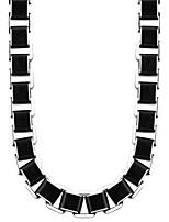 Homme Femme Couple Colliers chaînes Acier inoxydable Mode Noir Bijoux Pour Mariage Soirée Halloween Quotidien Décontracté 1pc