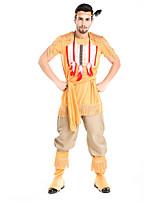 Costumes Plus de costumes Halloween / Fête d'Octobre Vert / Jaune Couleur Pleine Térylène Haut / Pantalon / Plus d'accessoires