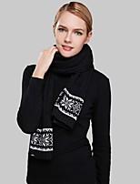 Bufanda Mujer Casual-Acrílico Jacquard Rectángulo