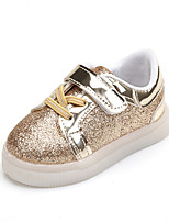 Unisex Sneakers Spring Fall Flats PU Casual Flat Heel Others Pink Silver Gold Others
