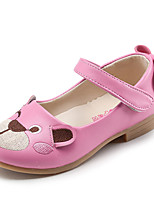 Girl's Flats Spring / Summer / Fall / Winter Comfort Leather Casual Low Heel Hook & Loop Pink / White /