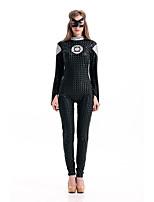 Costumes Superhéros Halloween Noir Couleur Pleine Térylène Collant/Combinaison / Plus d'accessoires