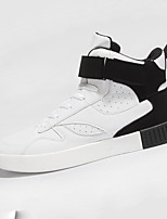 Men's Athletic Shoes Spring / Fall Comfort PU Casual Flat Heel  White / Black and Red / Black and White Others