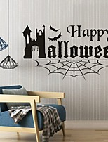 AYA DIY Wall Stickers Wall Decals Halloween Decoration HAPPY HALLOWEEN Type PVC Panel Wall Stickers 50*88cm
