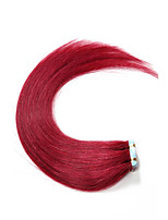 Hot Sale 16-22inch Burgundy PU Tape Skin Weft Hair Extentions 100% Remy Human Hair 30-50g Tape In Hair Extentions