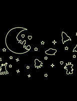 Luminous Wall Stickers Wall Decals Style Star Moon Space PVC Wall Stickers
