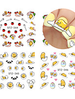 Nail Art Decals Laze Egg Lovely Cartoons Styling Water Transfer Stickers DIY Manicure Stickers STZ 342-351