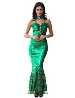 Costumes Movie & TV Theme Costumes Halloween Green Solid Terylene Dress / More Accessories