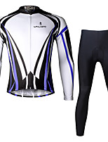 Ilpaladin Sport Men Long Sleeve Cycling Jerseys Suit CT709 Blue Dazzle