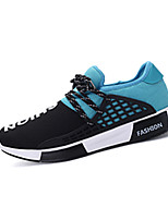 Men's Sneakers Fall Comfort / Square Toe Tulle Casual Flat Heel Lace-up Black / Blue / Black and Red Others
