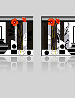 JAMMORY Canvas Set Landscape ,Two Panels Gallery Wrapped, Ready To Hang Vertical Print No Frame Black Theme