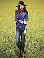 Damen Hose - Boho Jeans Baumwolle / Polyester Mikro-elastisch