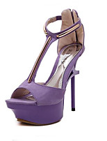 Women's Sandals Summer Sandals / Open Toe Suede Casual Stiletto Heel Others Purple Others