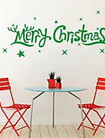 AYA DIY Wall Stickers Wall Decals Christmas Festival Merry Chritmas Style PVC Stickers 25*80cm