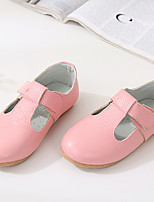 Unisex Flats Fall Round Toe / Flats Leather Casual Flat Heel Others Black / Blue / Pink / White Others