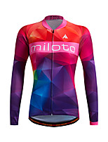 Sports Cycling Jersey Women's Long Sleeve BikeBreathable / Thermal / Warm / Quick Dry / Front Zipper / Sweat-wicking / Soft / YKK Zipper