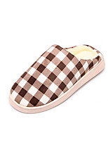 Women's Slippers & Flip-Flops Winter Comfort / Slippers / Round Toe / Flats Velvet Outdoor / Brown / Pink /