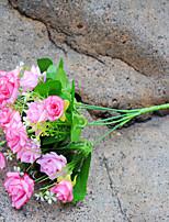 1 1 Филиал Полиэстер Розы Букеты на стол Искусственные Цветы 34cm