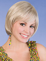 cor loiro europeu sem tampa perucas sintéticas retas para as mulheres afro