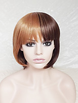 Cosplay Wig Brown Mixture Color BOBO Wig Europe And The United States With Ms Neat Bang Wig 10 Inch