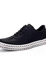 Черный / Коричневый / Красный-Мужской-На каждый день-Ткань-На плоской подошве-Удобная обувь-Туфли на шнуровке