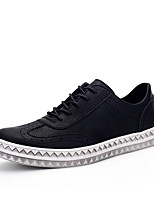 Men's Oxfords Spring / Fall Comfort Fabric Casual Flat Heel Black / Brown / Red Sneaker