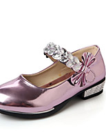 Girl's Loafers & Slip-Ons Spring / Fall Comfort PU Casual Flat Heel Flower Pink / Silver / Gold Others