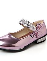 Розовый / Серебристый / Золотистый-Для девочек-На каждый день-Полиуретан-На плоской подошве-Удобная обувь-Мокасины и Свитер