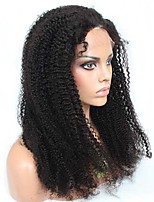 Full Lace Wigs Unprocessed Brazilian Virgin 100% Human Hair Natural Color  Afro Kinky Curly  14