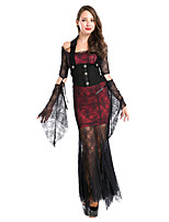 Cosplay Costumes / Party Costume Vampire Festival/Holiday Halloween Costumes Red/Black Lace Skirt / Gloves / Belt Halloween FemaleCotton