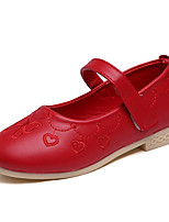 Girl's Loafers & Slip-Ons Spring / Fall Comfort Leather Casual Flat Heel Magic Tape Pink / Red Sneaker
