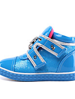Unisex Boots Spring / Fall Fashion Boots / Round Toe PU Casual Flat Heel Others Blue / Yellow / Red Others