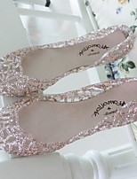 Women's Sandals Summer Sandals / Round Toe Glitter Casual Flat Heel Sparkling Glitter Pink / Silver / Gold Others