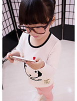 Girl's Casual/Daily Print BlouseCotton Spring / Fall Black / Red / White