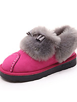 Women's Loafers & Slip-Ons Fall / Winter Comfort / Round Toe PU Casual Flat Heel Others Black / Red
