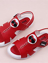 Girl's Sandals Spring / Summer / Fall Sandals PU Outdoor / Casual Flat Heel Bowknot Yellow / Red / White Walking
