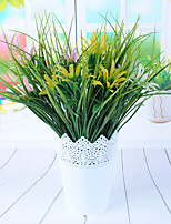 1 1 Ramo Plástico Plantas Flor de Mesa Flores artificiais 38cm