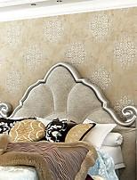 Fleur / 3D Fond d'écran pour la maison Contemporain Revêtement , Autre Matériel adhésif requis fond d'écran , Chambre Wallcovering