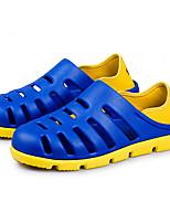 גברים-סנדלים-לטקסשחור כחול חום אפור-יומיומי-עקב שטוח