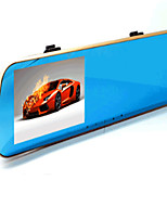 The New L9100 4.3 Inch Rearview Mirror Jelee Blue Mirror Double Lens HD Night Vision