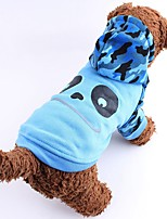 Cat Dog Costume Hoodie Dog Clothes Winter Spring/Fall Cartoon Cute Cosplay Gray Rose Brown Green Blue