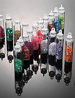 18PCS Color Small Ball Roe Beads Glass Beads Sequins DIY Nail Accessories